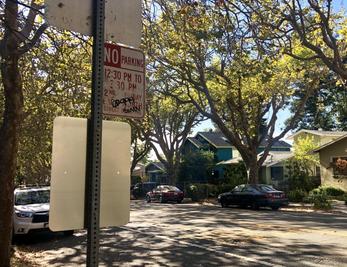 No Parking sign on Berkeley street
