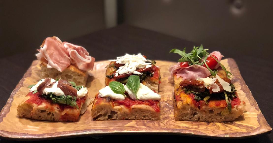 A selection of pizza al taglio from Casa Barotti.