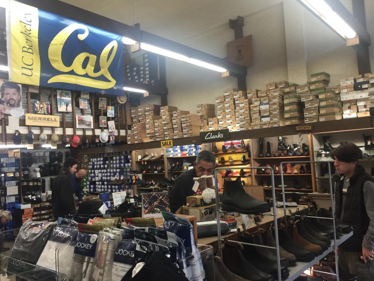 inside of a shoe store