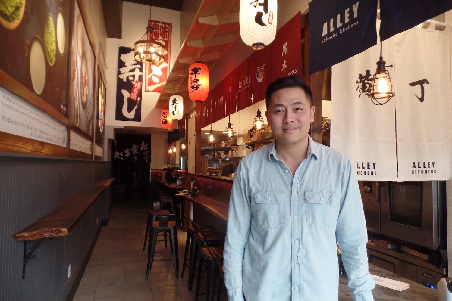Owner Roy Lam at Alley Kitchens in Berkeley. Photo: Joanna Della Penna
