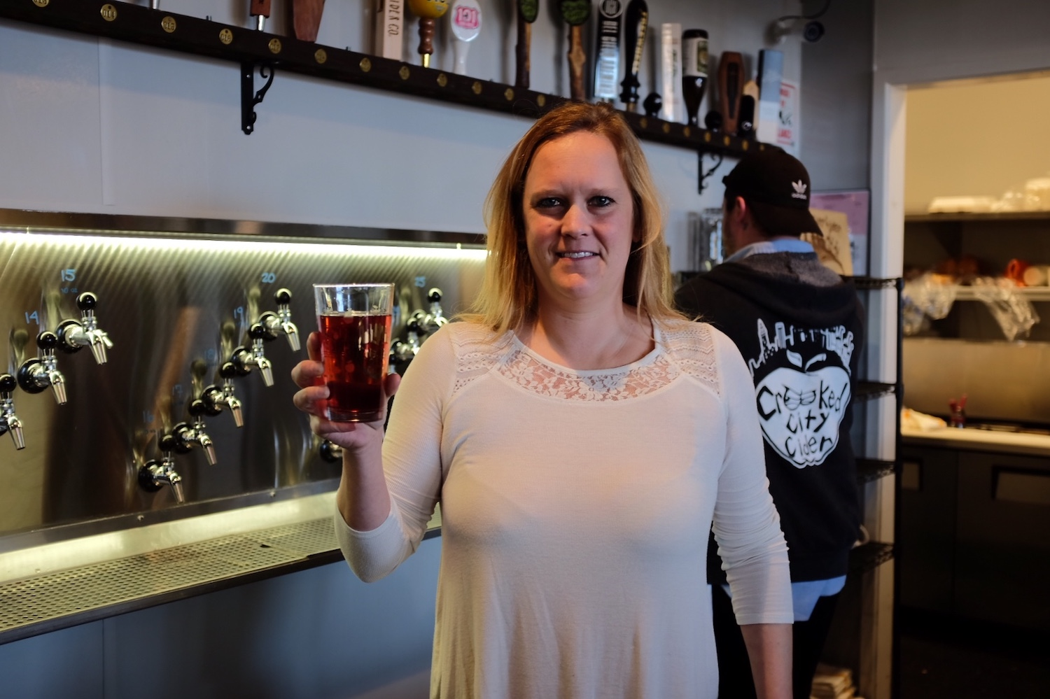 Dana Bushouse, owner of Crooked City Cider Taphouse in Oakland.