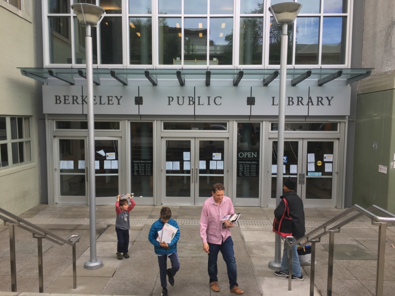 entrances to Berkeley Public Library