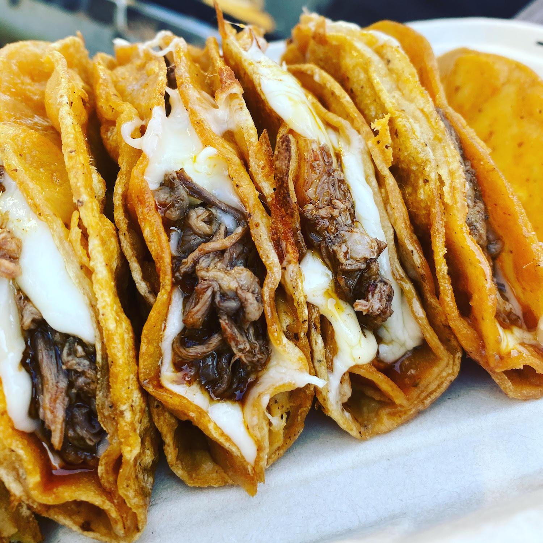 Quesabirria tacos at OG Tacos.