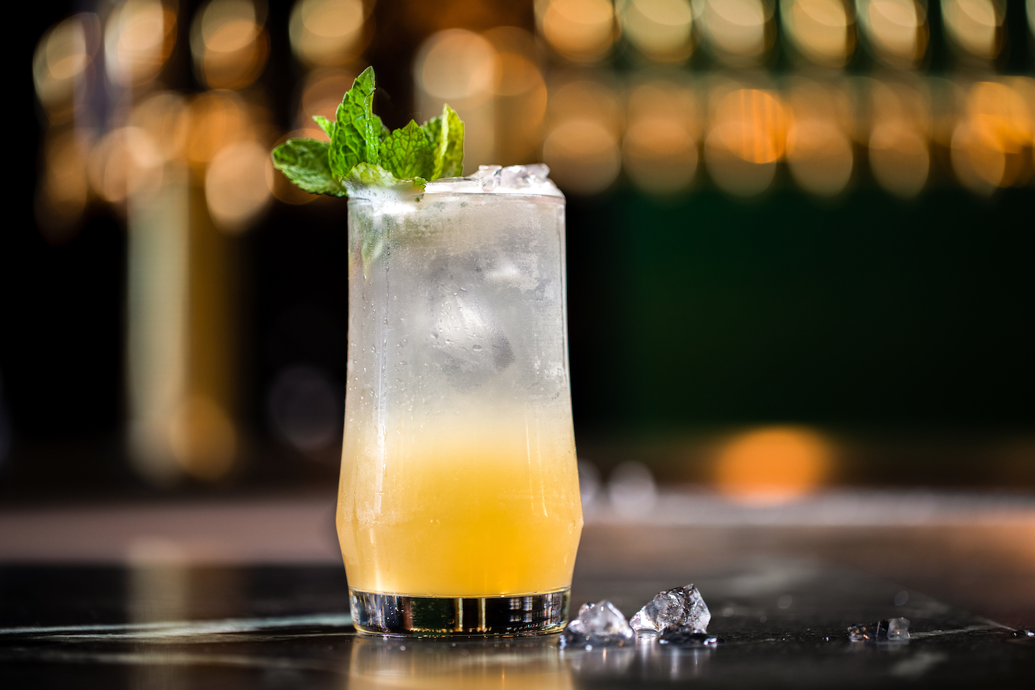 Many of the cocktails at Sobre Mesa are rum-based, like the Mojito.