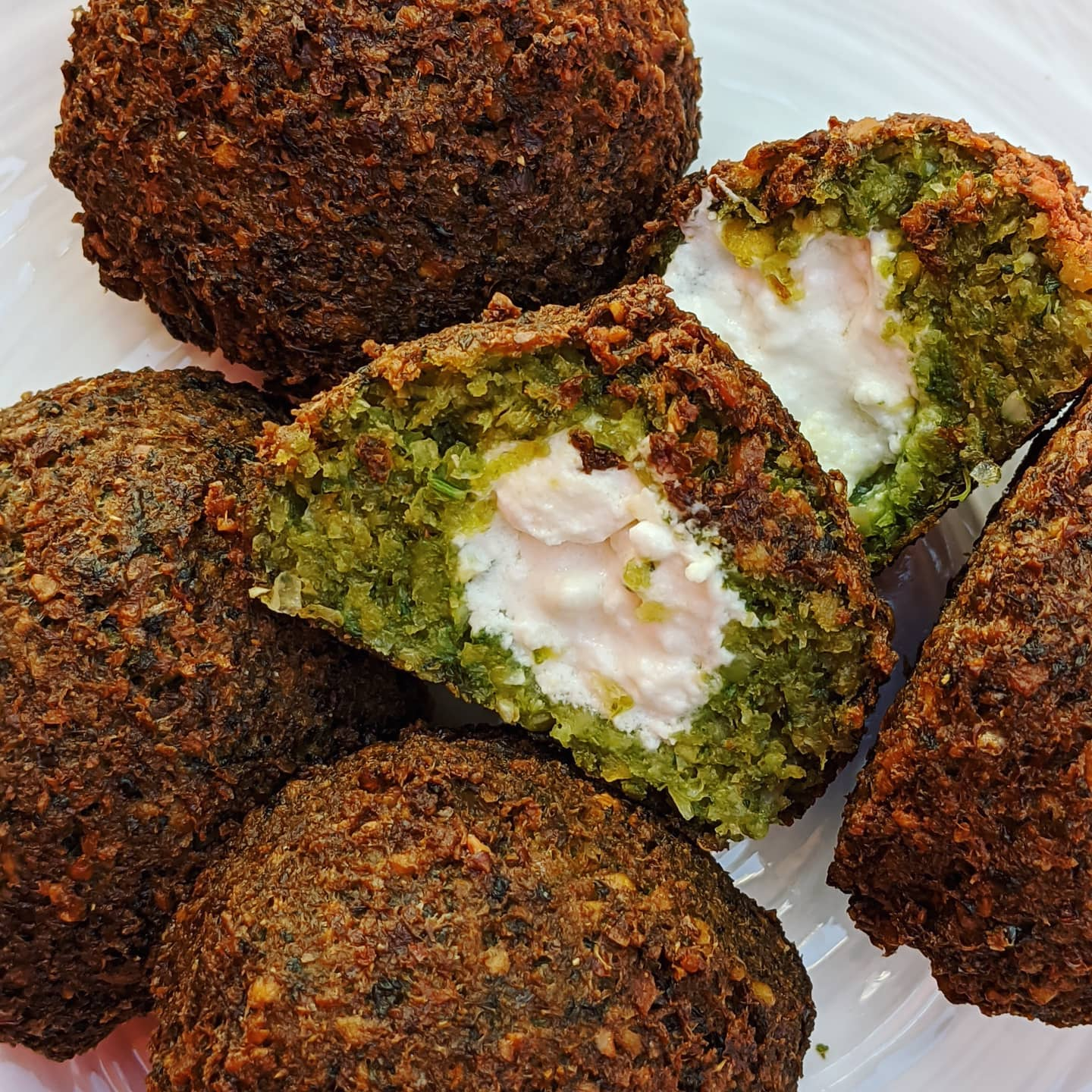 Cheese-stuffed falafel from Pomella.
