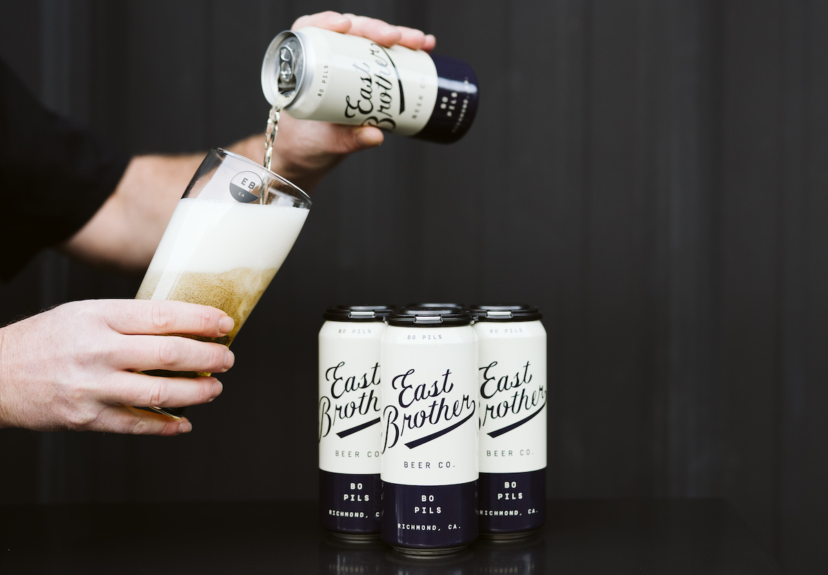 East Brother Beers Bo Pils. Photo: Clara Rice Photography