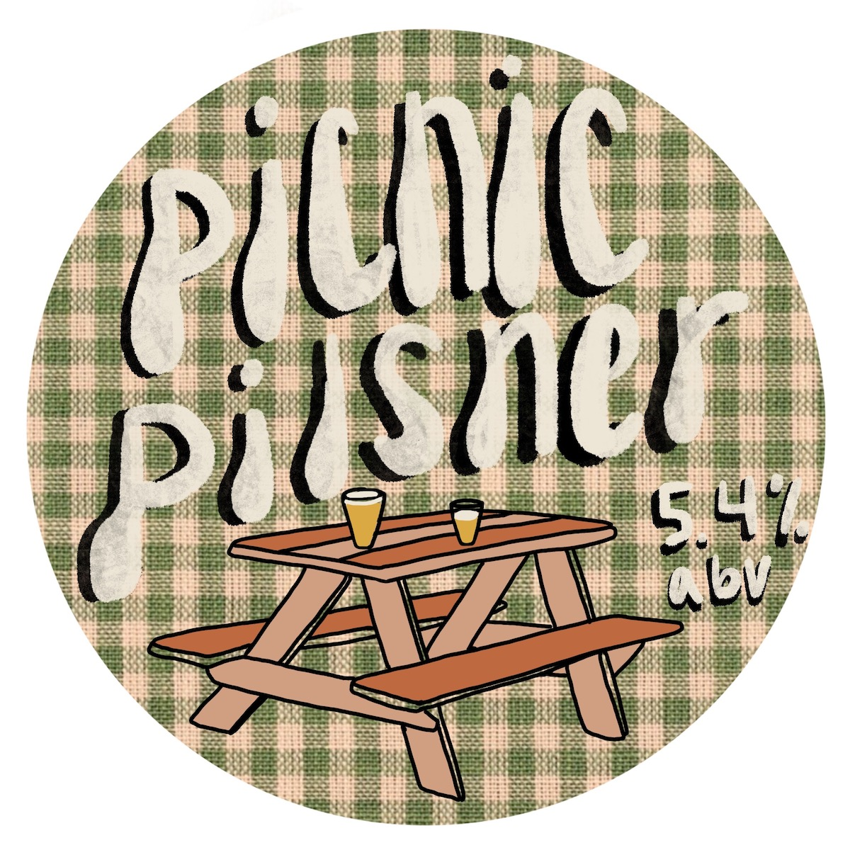 Ocean View Brew Works' Picnic Pilsner. Image courtesy of Ocean View Brew Works