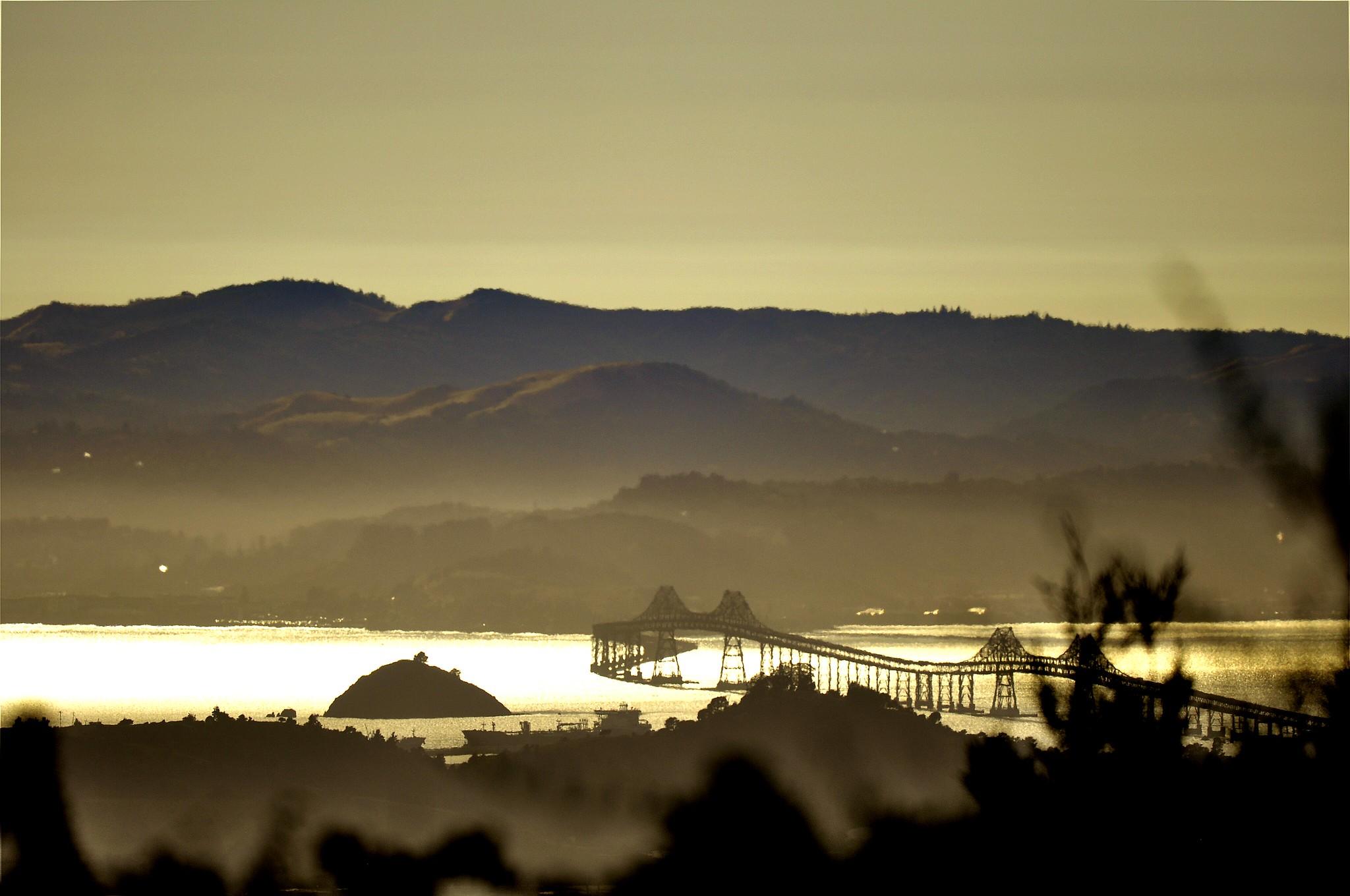 Richmond Bridge as seen from the Berkeley Hills.