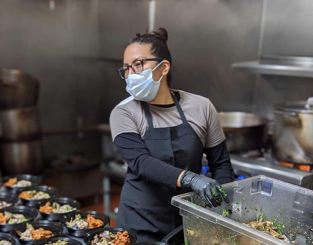 In June, Fare Community Kitchen worked with the YMCA of the East Bay to feed students who were no longer receiving meals at school. Photo: Fare Community Kitchen