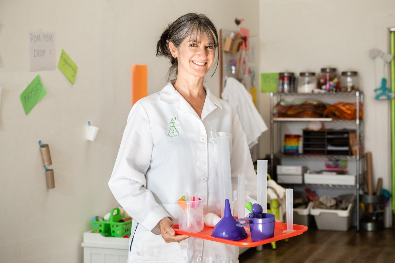 Tracy Hollander in the HandsOn STEAM Lab. Photo: Kelly Sullivan