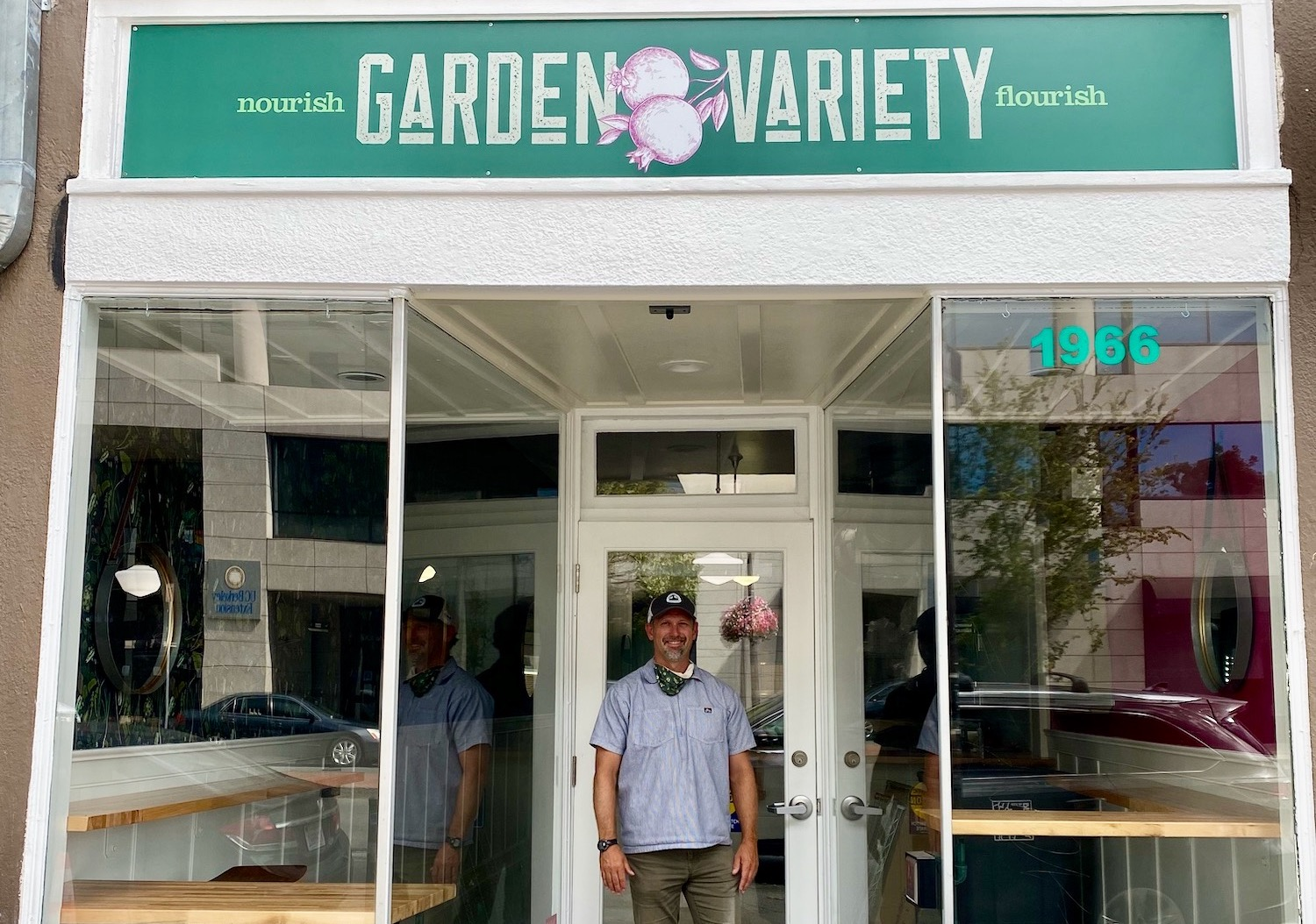 Chef-owner Jeff Wampler outside of his new lunch spot, Garden Variety, in downtown Berkeley. Photo: Garden Variety