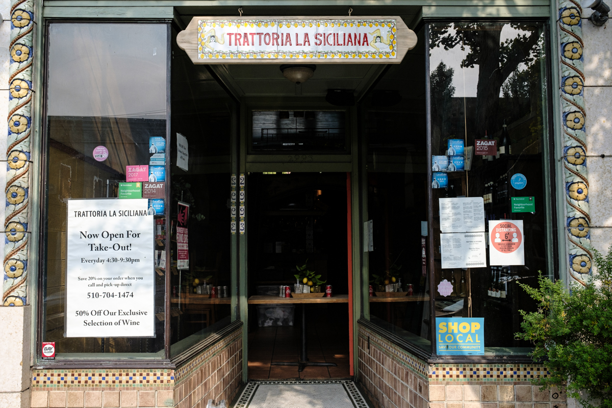 Outside La Trattoria Siciliana on College Ave. The D'Alo family will close the College Avenue mainstay on Sept. 30 to consolidate all services at their other restaurant Agrodolce. Photo: Pete Rosos